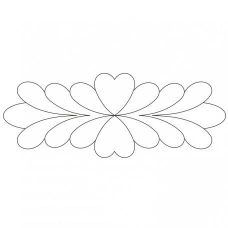 Stencil Feather plume 20 x 7,6 cm