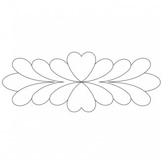 Stencil Feather plume 26,7 x 10 cm