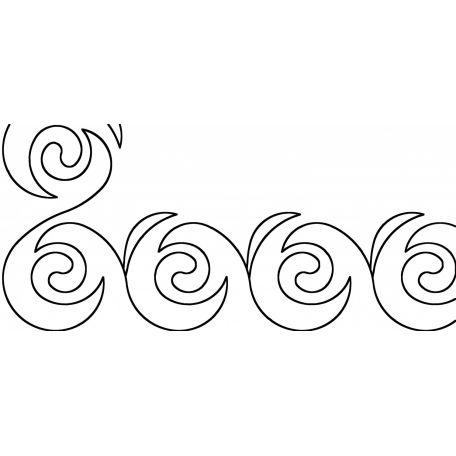 Stencil bordure vague yin et yang 10 cm
