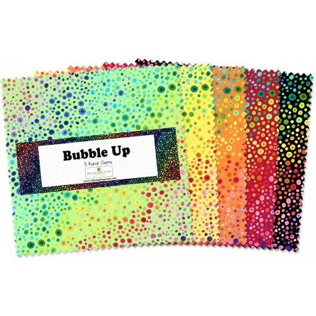 Charm pack de tissus bulles multicolores Bubble Up