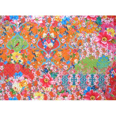 Panneau de Velours Odile Bailloeul Jardin de la Reine 100 x 140 cm