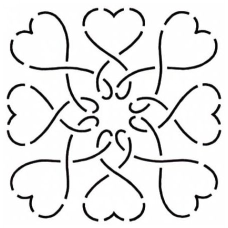 Stencil bloc coeurs sweet hearts 15 x 15 cm