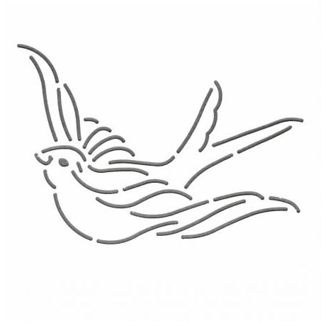 Stencil Hirondelle 12 x 9 cm