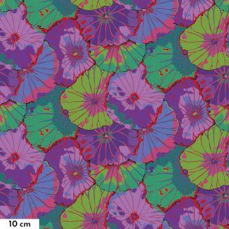 Tissu grande largeur Kaffe Fassett Lotus Leaf violet