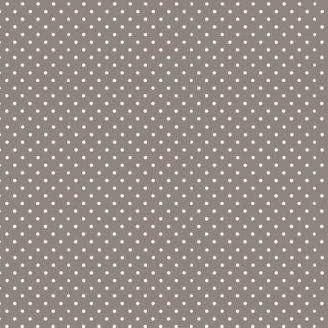 Tissu patchwork minis pois gris métal