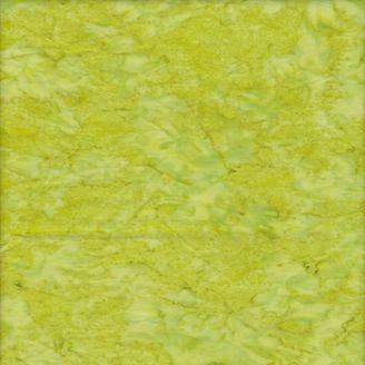 Tissu batik marbré vert anis