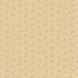 Tissu patchwork minis triangles ton sur ton crème