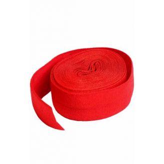 Biais élastique pré-plié de By Annie, au mètre - Rouge atomique