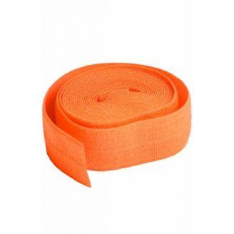 Biais élastique pré-plié de By Annie, au mètre - Orange Citrouille