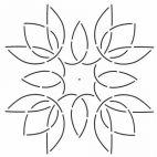Stencil bloc médaillon tulipe 20 x 20 cm