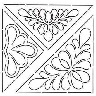 Stencil triangles de fleurs pour angles