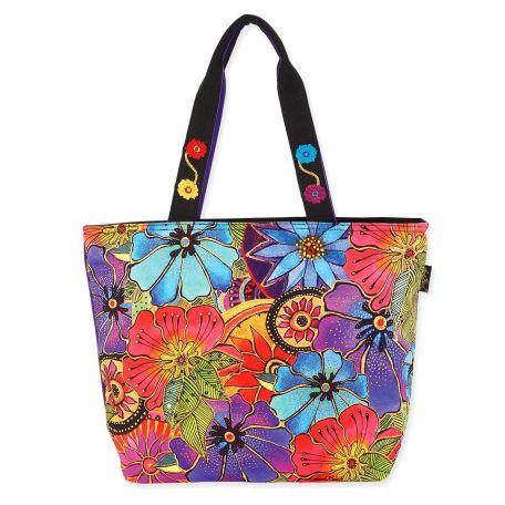 Sac Laurel Burch grand cabas multicolore à fleurs