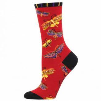 Chaussettes Laurel Burch Rouge Papillons