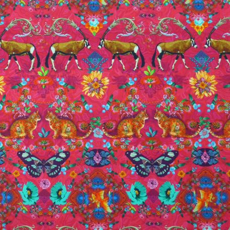 Panneau Parenthèse enchantée mois n°10A Singapour rose et bleu