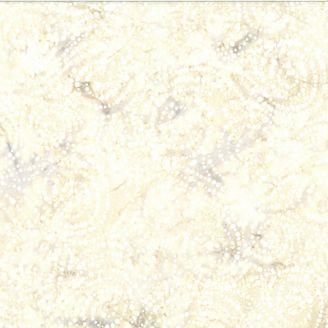 Tissu batik spirales blanches et sables