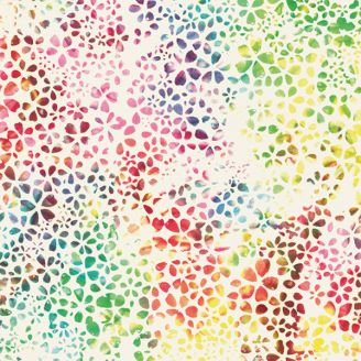 Tissu batik petites fleurs multicolores