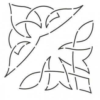 """Stencil triangles trick and triumph 5"""" (12,7 cm)"""