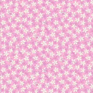 Tissu patchwork petites fleurs roses - Primavera