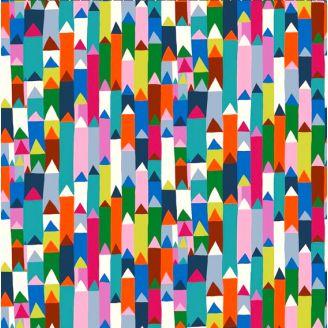Tissu patchwork pointes géométriques colorées - Homeward