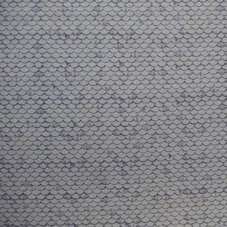 Tissu patchwork tuiles de toits gris anthracite
