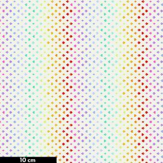Tissu patchwork Tula Pink couleurs des cartes à jouer écru - Curiouser and Curiouser