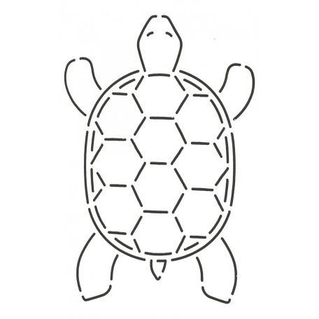 Stencil Tortue 10 x 16,5 cm