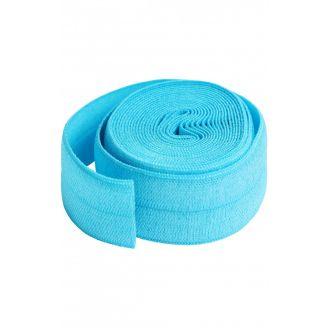 Biais élastique pré-plié de By Annie, au mètre - Bleu Perroquet