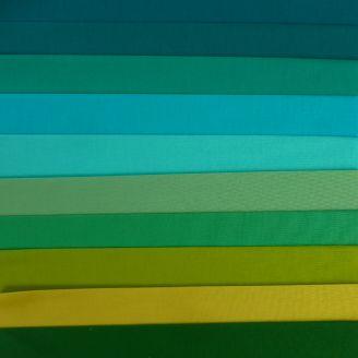 10 coupons de tissus unis Kona - Mangrove