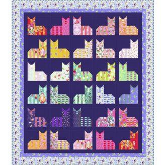 Patron gratuit du patchwork Cheshire Cats Diva (en anglais)