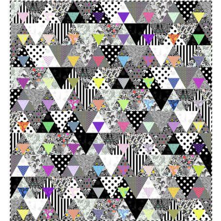 Patron gratuit du patchwork Equilateral Quilt (en anglais)