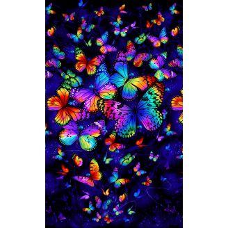 Panneau de tissu patchwork grands papillons Butterfly Magic - 60 x 110 cm