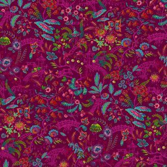 Tissu patchwork Odile Bailloeul Jardin japonais fuchsia - MagiCountry