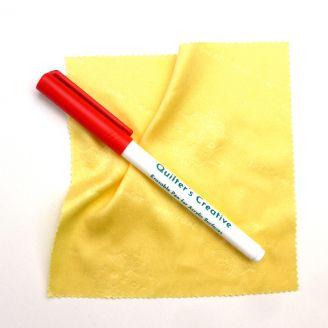 Feutre rouge effaçable pour surfaces en acrylique Sew Steady + Chiffonnette