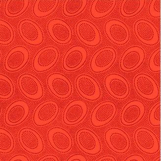 Tissu patchwork Kaffe Fassett ovale aborigène orange GP71