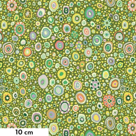 Tissu Kaffe Fassett Roman glass vert feuille GP01