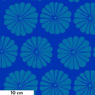 Tissu patchwork Kaffe Fassett fleurs Damask turquoise fond bleu GP183