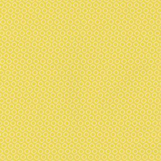 Tissu Patchwork cercles jaunes ton-sur-ton