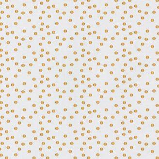 Tissu Patchwork blanc à pois dorés