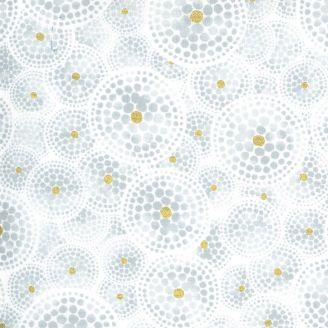 Tissu patchwork pois gris cercles fond écru - Dance in Paris de Zen Chic