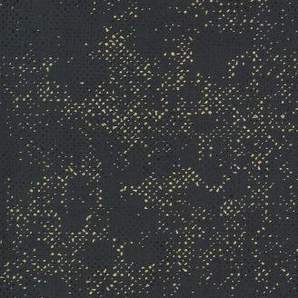 Tissu patchwork mini pépites dorées fond gris graphite - Dance in Paris de Zen Chic