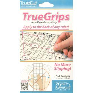 TrueGrips Pastilles anti-dérapantes pour règles de patchwork