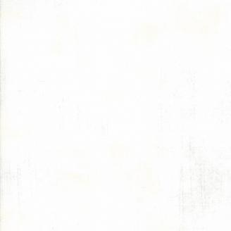 Tissu patchwork grande largeur faux-uni patiné Blanc papier - Grunge de Moda