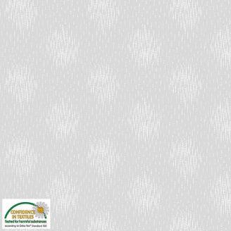 Tissu patchwork ronds brouillés fond gris