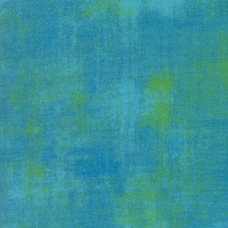 Tissu patchwork faux-uni patiné turquoise Bachelor - Grunge de Moda