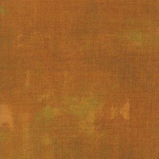 Tissu patchwork faux-uni patiné roux Yam - Grunge de Moda