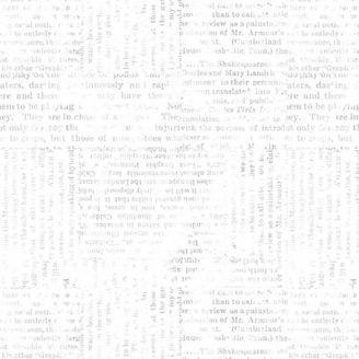 Tissu Patchwork textes gris clair fond blanc - Lower the volume