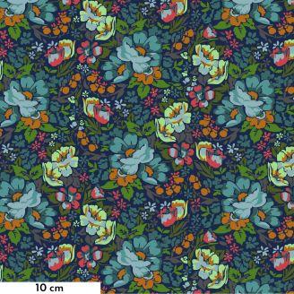 Tissu patchwork champs de fleurs bleu - Love Always d'Anna Maria Horner