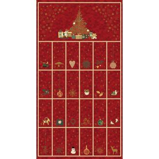 Calendrier de l'Avent rouge - Christmas is near