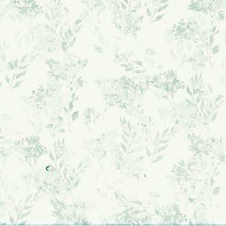 Tissu patchwork branchages gris fond écru