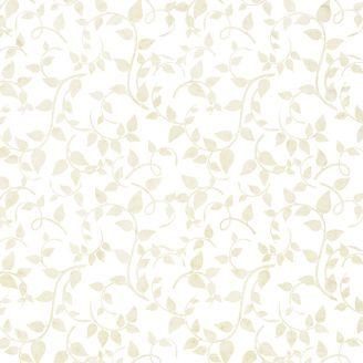 Tissu batik écru lianes beiges